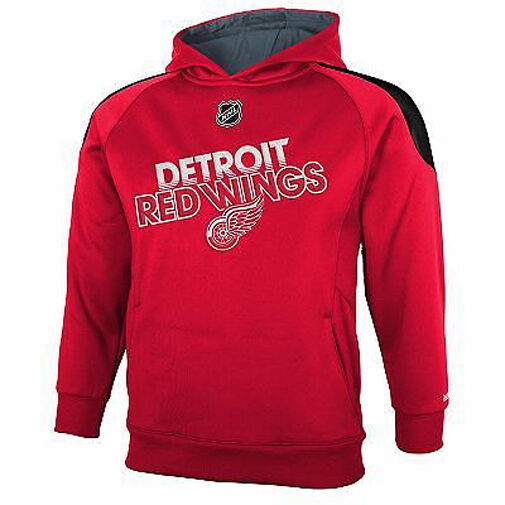 Primary image for REEBOK DETROIT RED WINGS Performance Hoodie Sweatshirt NWT Youth Small Sz. 8 $48