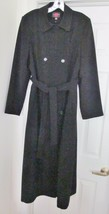 GALLERY Women's Long Coat Zip Out Lined Double Breasted Military Size 8 - $69.94