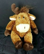 "Russ Berrie Brown Plush Twinkle Moose 9"" Stuffed Animal Bean Bag  - $23.75"