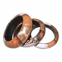 Animal Print Faux Leather Bangles (Per Set) - $9.90