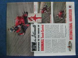 1949 Farmall Cub Tractor Ad - Farmer Shown Using Touch Control In Field - $8.06