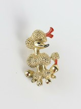 Vintage Costume Fashion Gold Tone Enamel Poodle Dog Animal Brooch Pin - $6.63