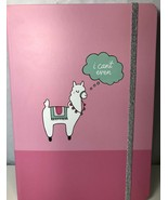 Girls Pink Llama Planner Notebook Journal Diary Book Hard Cover I Can't ... - $9.89