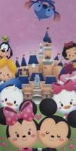 Disney Parks Shanghai Tsum Tsum Cuties Print Beach Towel 34in x 62in - $20.78