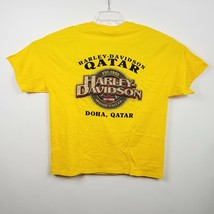 Harley-Davidson Doha Qatar T Shirt XL Extra Large Yellow Black White SS ... - $17.72