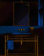 """NEW 38"""" Restoration Modern Wall Mirror Antique Hardware Gold Brass Vanity Hall - $286.11"""