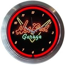 "Hot Rod Garage Neon Clock 15""x15"" - $59.00"