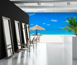 3D Blue Sky Beach P204 Business Wallpaper Wall Mural Self-adhesive Comme... - $13.49+