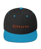 Ripkitty Blue Black Classic Snapback Orange Logo Hip Hop - $18.80