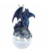 Pacific Giftware Talisman Purple Blue Dragon Glass Ball Ornament by Ruth... - £10.50 GBP