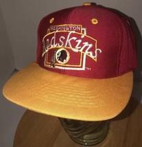 Vintage Washingston Redskins 90s Hat Cap Snapback Twill Team Nfl Nfl Block Logo - $32.85