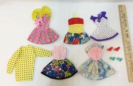 Barbie Doll Clothes Genuine Sun Dresses Tunic 2 Pair Shoes Vintage Lot of 8 - $14.84
