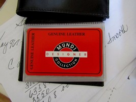 Brand New~Mundi Men's Trifold Wallet~Genuine Leather~Black~The Perfect Gift - $15.99