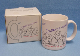 1986 Hallmark Shoebox Coffee Mug Cup Congratulations Everybodys Jealous ... - $10.30