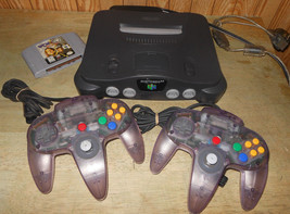 Nintendo 64 Gray Console Very Clean All Power Cords Included w/ 2 Contro... - $183.81