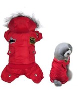 Gimilife USA Pet Air Force Costume, Cotton Warm Coat With Hood Winter C... - $14.63