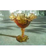 Fenton Colonial Amber Rose Footed Compote 6 1/2 Tall - $23.76