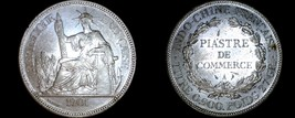 1901-A French Indo-China 1 Piastre World Silver Coin - Vietnam - $149.99