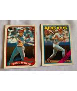 1988-89 Topps  Paul O'Neill Outfield Cincinnati Reds Baseball Cards #604... - $5.89