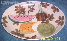 EAMES ERA MID CENTURY MODERN RETRO-REDWING TAMPICO OVAL SERVING PLATTER ... - $27.45
