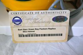 BART STARR / NFL HOF / AUTOGRAPHED GREEN BAY PACKERS LOGO MINI HELMET / STEINER image 7