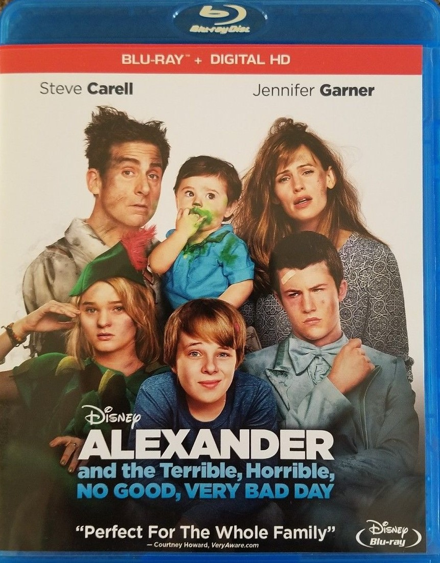 Disney Alexander and the Terrible, No Good, Very Bad Day (Blu-ray, 2016)