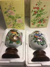 Vintage Avon 4 Seasons Pircelain Egg Series Spring Summer NIB - $21.21