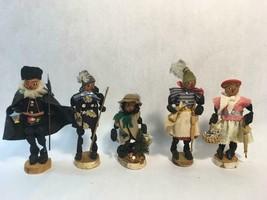 Vintage German Dried Fruit and Nut Folk Figurines Dolls Walnut Head People - $64.30