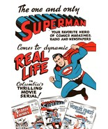 SUPERMAN 24 x 36 1948 DC / Columbia SUPERMAN Movie Promo Poster - $50.00