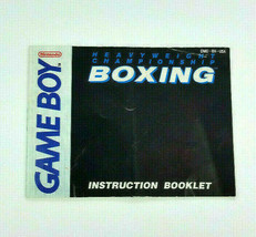Heavyweight Championship Boxing Nintendo Game Boy Instruction Manual Book Only - $11.64