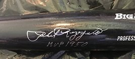 """Phil Rizzuto Signed Autographed """"MVP 1950"""" Rawlings Black BigStick Baseb... - $197.99"""