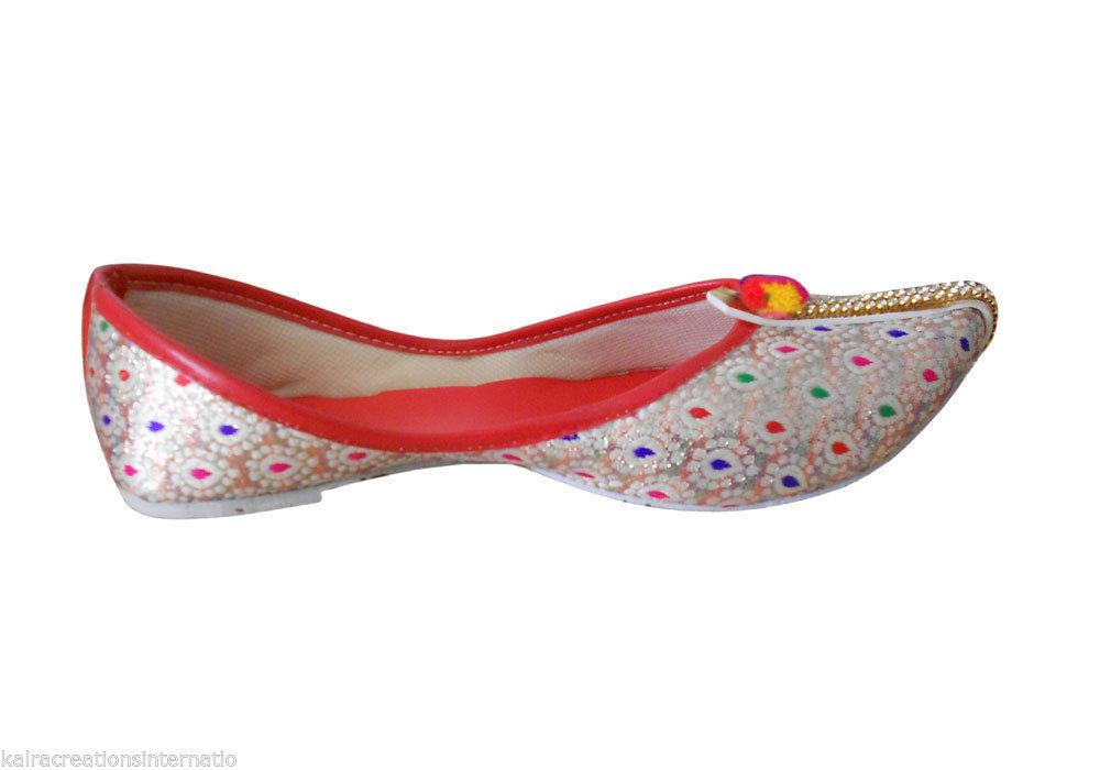 6a388ec99 Jutti Ethnic Sherwani Women Shoes Handmade Flat Jutti Flip-Flops US 7