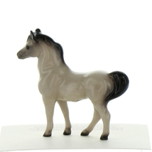Hagen Renaker Miniature Horse Tiny Gray Stallion Ceramic Figurine