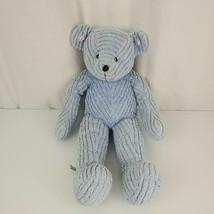 Bath & and Body Works Stuffed Plush Blue Chenille Teddy Bear Daisy Flower 90s - $49.49