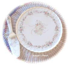 Mikasa FOREVER LOVE China Plate With Server Wedding Bells Anniversary Mi... - $18.95