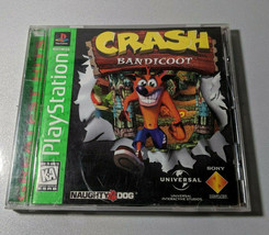 Crash Bandicoot (Sony PlayStation 1,1996) Greatest Hits Clean Disc Excellent  - $16.34