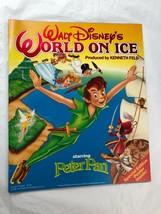 Disney World On Ice Peter Pan Souvenir Program Book w Poster Vintage 1990's - $14.85