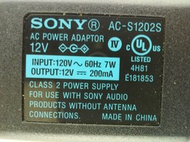 Sony A/C Power Adapter AC-S1202S 12V 200mA - ₹1,037.69 INR