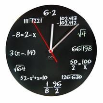 """Pop Quiz Wall Clock Maths Classroom Home Office Timepiece 11-1/2"""" Diamet... - $30.91"""