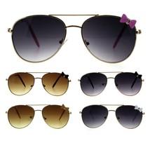 Girls Kids Size Ribbon Jewel Trim Pilots Metal Rim Sunglasses - $9.95