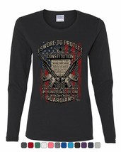 Swore to Protect Defend the Constitution Women's Long Sleeve Tee Guardia... - $10.57+