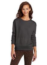 Hurley Juniors Fleece Crew Lightweight Sweatshirt Charcoal Black X-Small... - $15.32