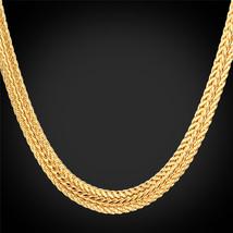 """Necklaces, """"18K"""" Gold Stamp 6mm Foxtail Platinum/Rose Gold/18K Gold Plated N435 - $23.99+"""