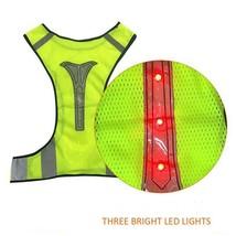 Reflective Vest Led Cycling Jackets Safety Running Light Night Visibilit... - $15.21