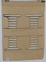 Kate Winston Brand Brown Burlap Monogram Black White H Garden Flag image 2