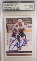 2014-15 Fleer Ultra Gold Medallion Autographed Andrew Shaw PSA/DNA Authe... - $29.02