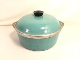 Club Aluminium Dutch Oven Pot And Lid Vintage Aqua Blue Retro Turquoise ... - $59.39