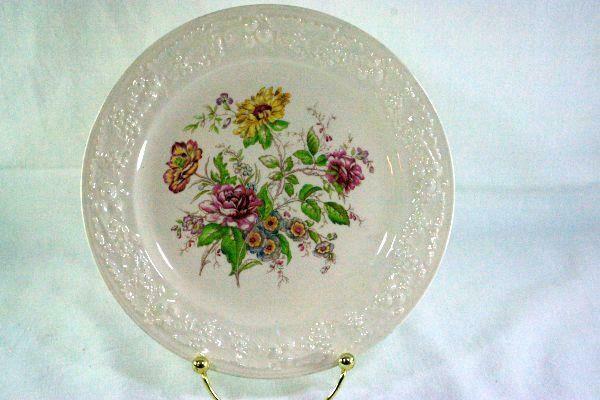 """Homer Laughlin Floral TH6 E47N5 Salad Plate 8 1/8"""""""