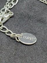 Claire's Silver Tone Tear Drop Necklace Rhinestone Pendant Women Jewelry... - $4.95