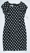 DR COLLECTION BY DONNA RICCO NWT WOMENS 8 RESORT DRESS BLACK WHITE POLKA... - $34.64